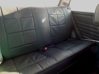 Rénovation banquette arrière cuir Austin Mini RC Sellerie