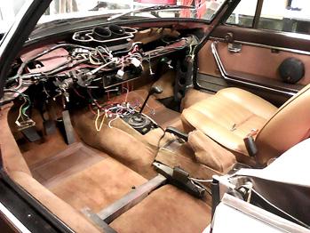 Démontage intérieur 504 Cabriolet d'origine