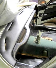 Gainage planche de bord Aston Martin DB4 RC Sellerie