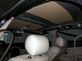 Rénovation ciel de toit Jaguar XJ6 RC Sellerie