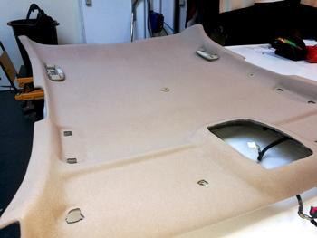 Rénovation ciel de toit Jaguar XJ6