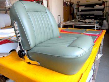 Rénovation Siège Cuir Conducteur Aston Martin DB4 RC Sellerie