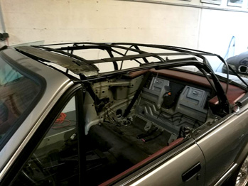 Restauration capote BMW 325 E30 cabriolet RC Sellerie