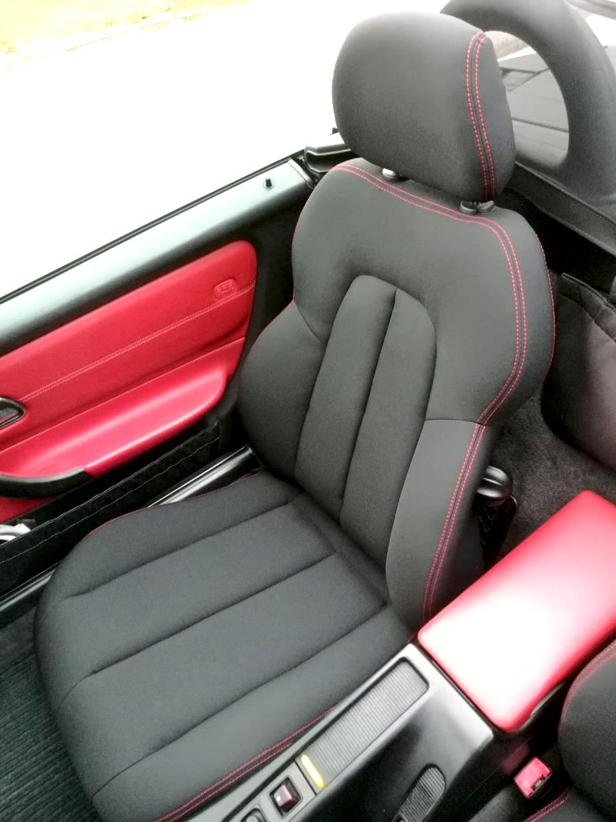Rénovation sellerie Mercedes SLK