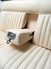 Rénovation banquette arrière cuir Peugeot 404 RC Sellerie