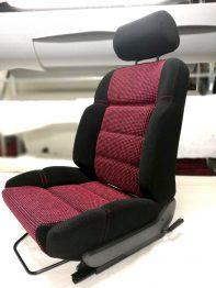 Rénovation siège tissu Peugeot 205 GTI Quartet RC Sellerie
