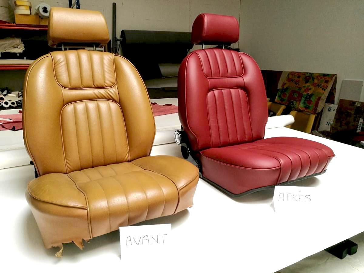 Sellerie cuir 504 Cabriolet Renaissance