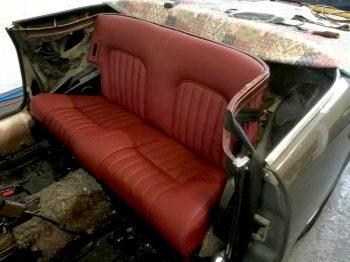 Sellerie cuir banquette 504 Cabriolet Renaissance RC Sellerie