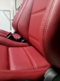 Sellerie cuir BMW 325 E30 après rénovation RC Sellerie
