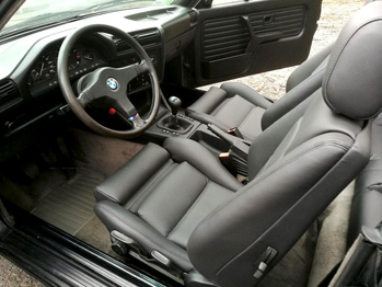 Sellerie cuir rénovée BMW 325 E30 RC Sellerie