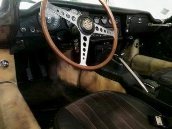 Sellerie Cuir Jaguar type E avant rénovation RC Sellerie