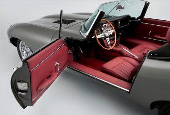 Voiture inspiratrice Jaguar type E RC Sellerie