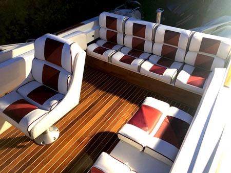 aménagement extérieur bateau coussins, tauds de mouillage, hivernage, capotes de roof