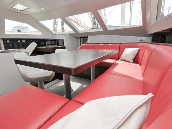 Intérieurs de bateaux, sièges, banquettes, vaigrage