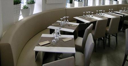 rénovation sellerie de mobilier intérieur restaurant brasserie