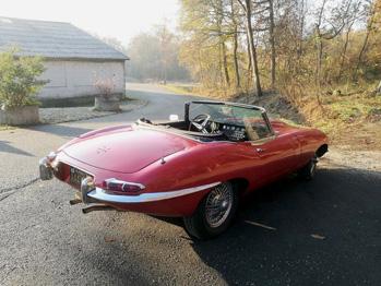 Jaguar Type E rénovation intérieure RC Sellerie
