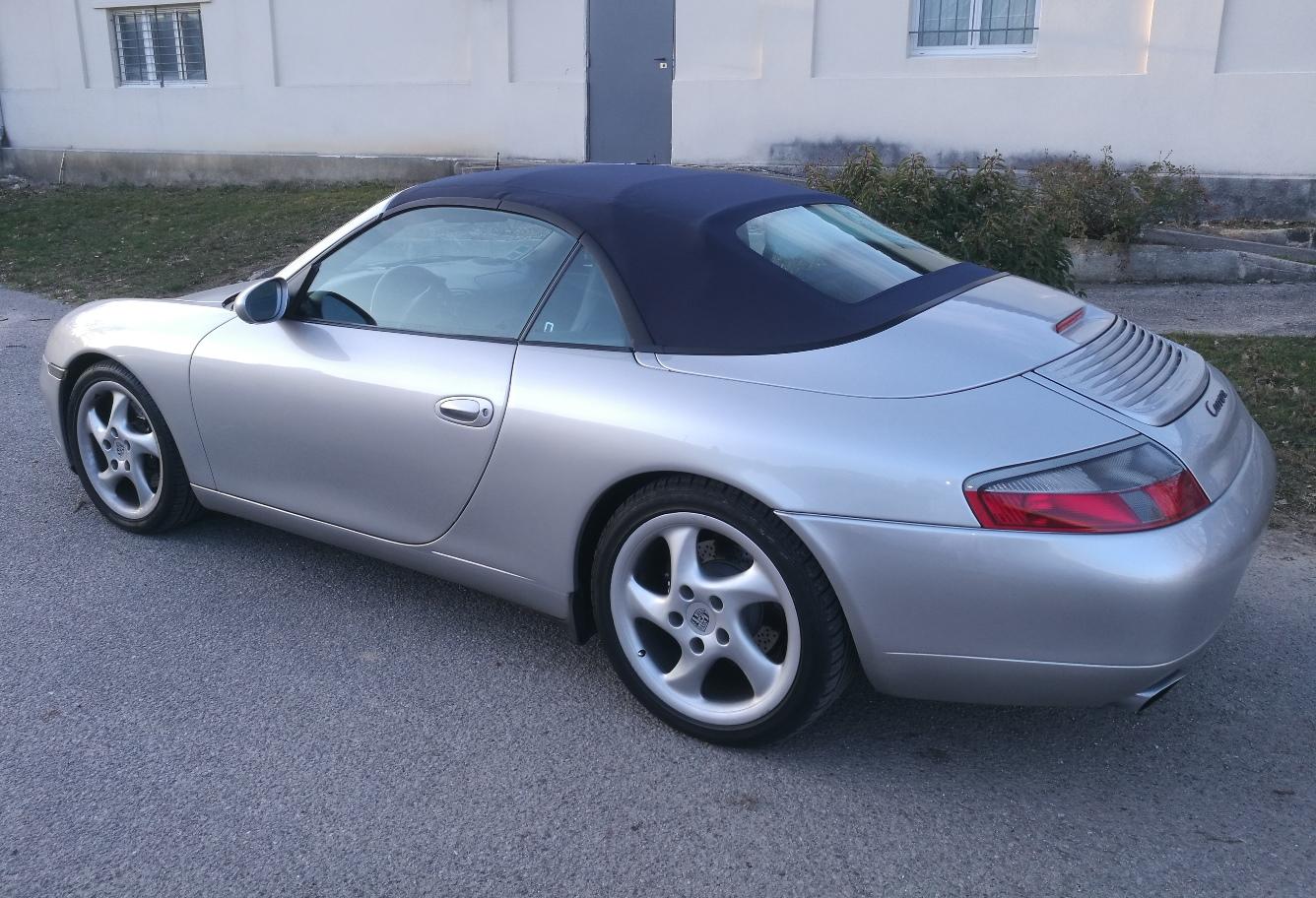 Remplacement capote Porsche 911 cabriolet 996 RC Sellerie