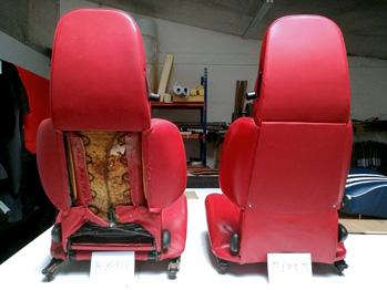 Rénovation et entretien sièges en cuir Alpine A310 RC Sellerie