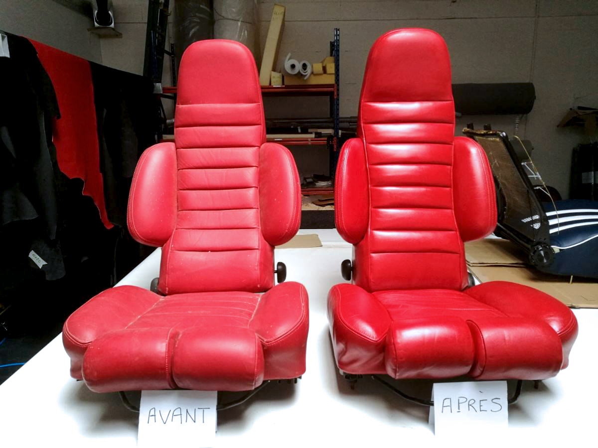 Rénovation et entretien sièges en cuir Alpine A310