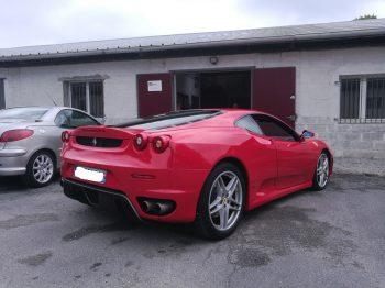 Ferrari F430 rénovation ciel de toit cuir RC Sellerie