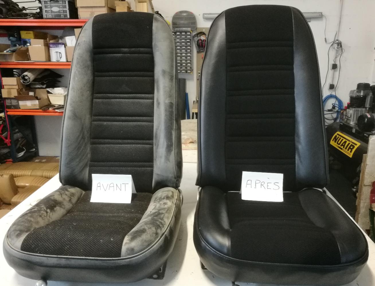 Nettoyage siège Corvette