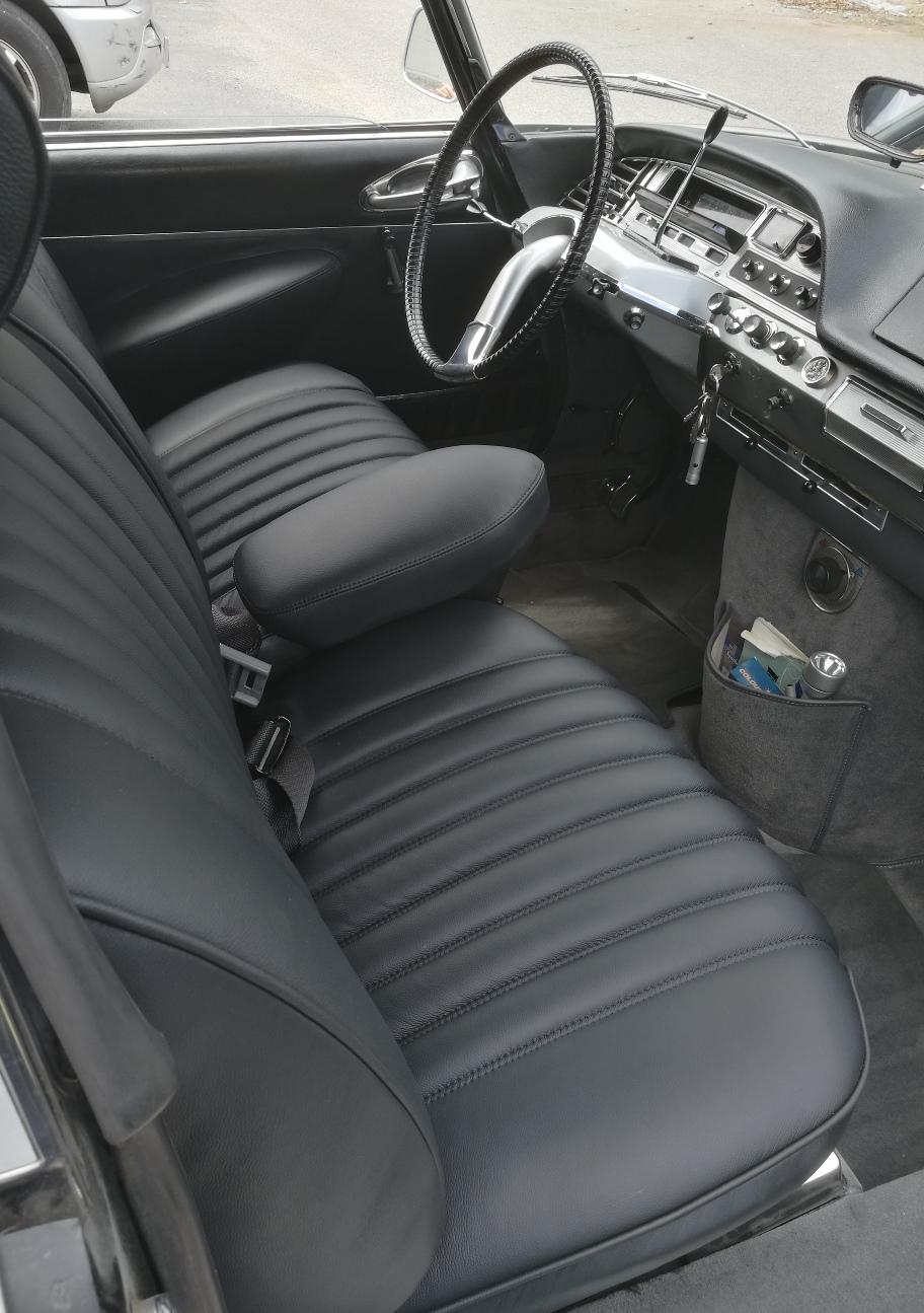Citroën DS 21 Pallas rénovation sellerie cuir