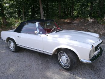 Remplacement capote Mercedes 230 SL Pagode RC Sellerie