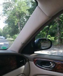 Remplacement tissu montant pare brise Jaguar XJ 8 RC Sellerie