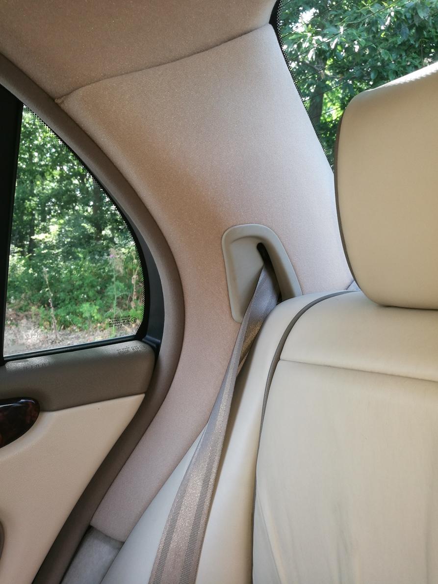 Remplacement tissu montants custodes Jaguar XJ 8