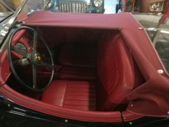 Création d'un couvre tonneau en toile Alpaga Jaguar XK 140 RC Sellerie