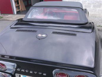 Remplacement capote vinyle Corvette cabriolet C2 RC Sellerie