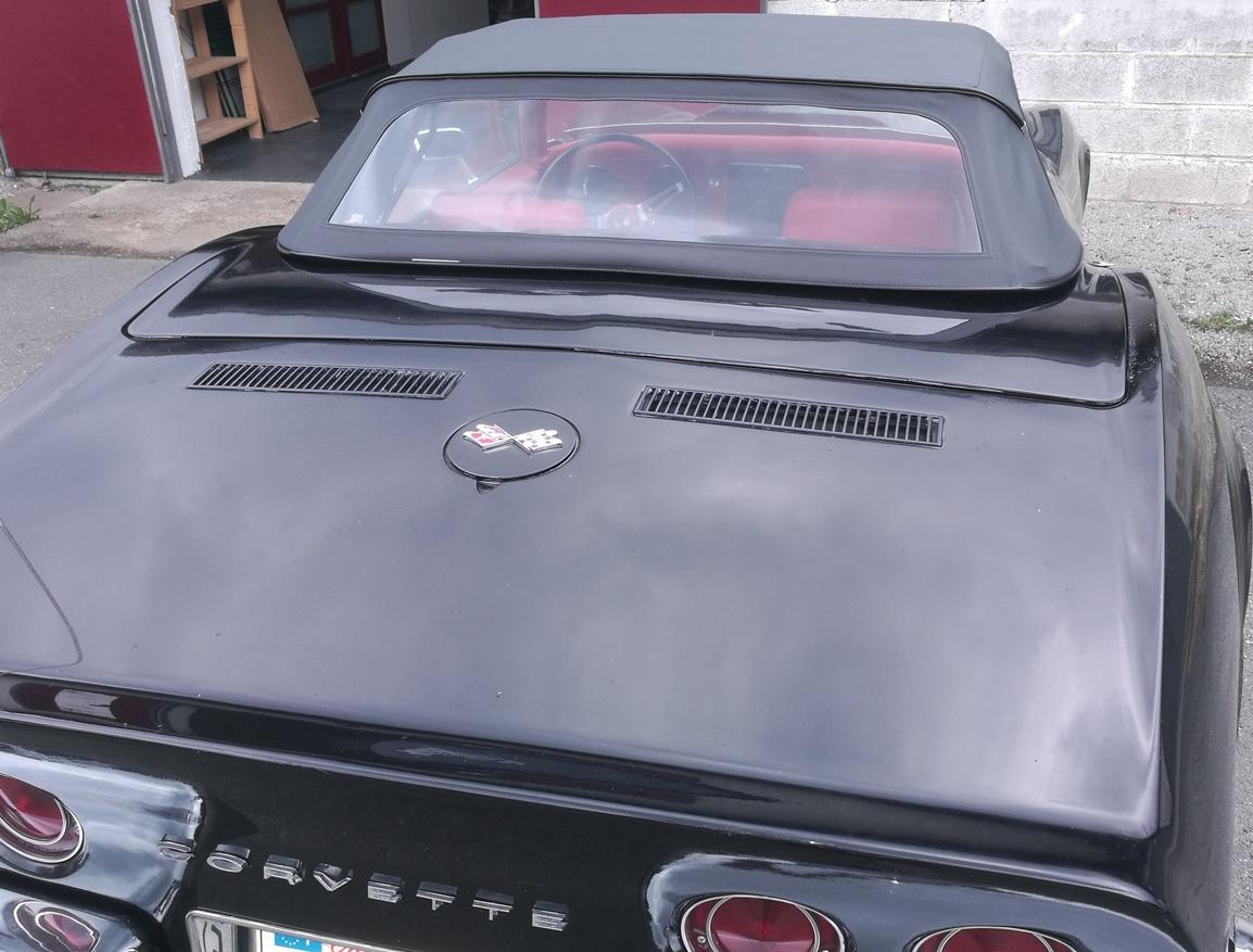 Remplacement capote vinyle Corvette cabriolet C2