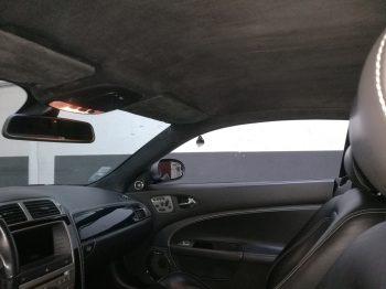 Rénovation ciel de toit Alcantara Jaguar XKR RC Sellerie