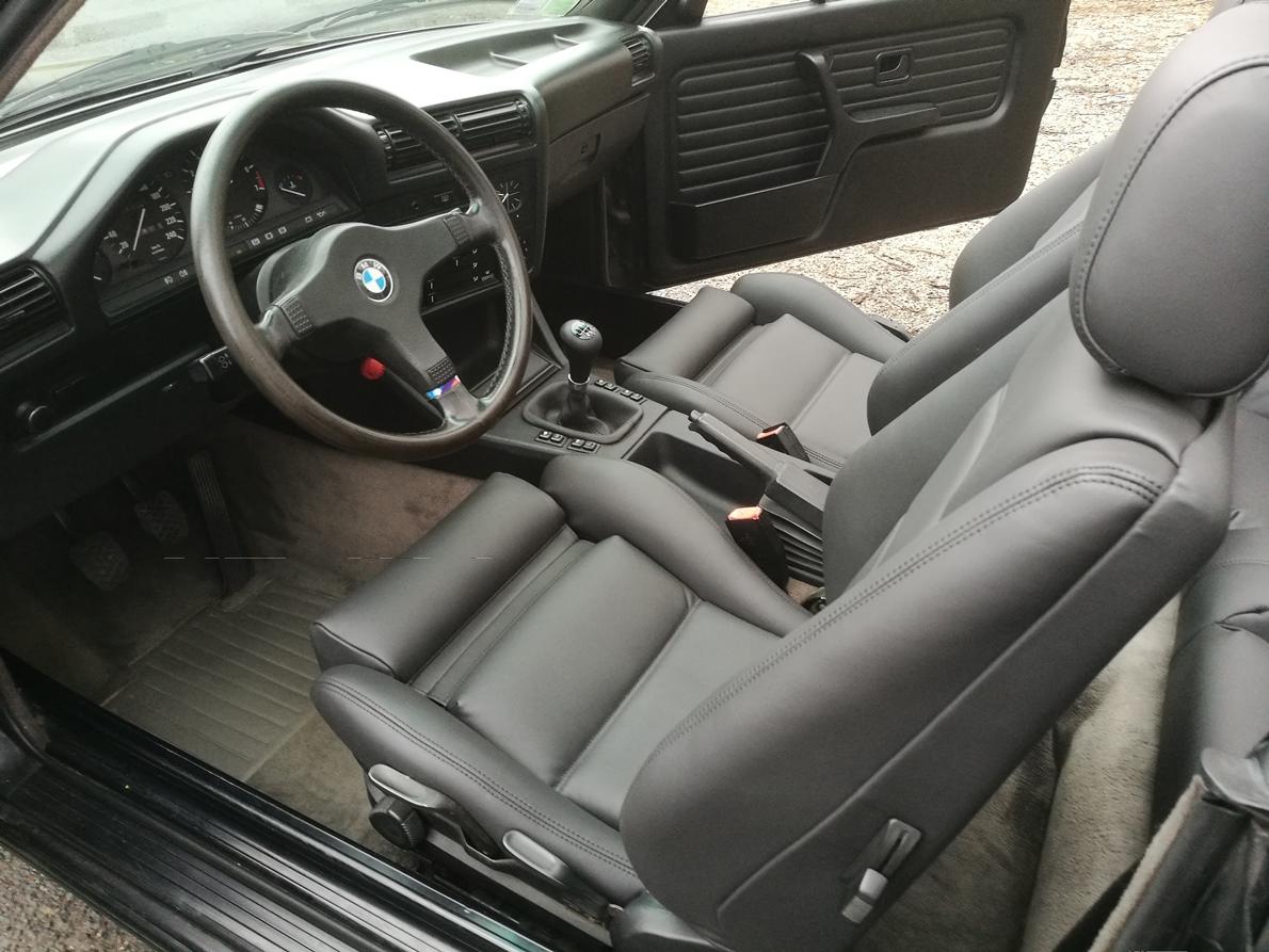 Rénovation sellerie en cuir complète BMW E30