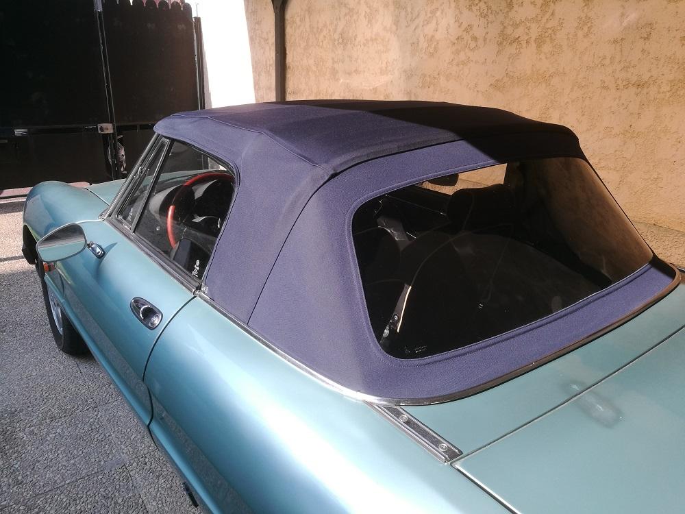 Remplacement capote Alpaga sur Alfa Spider 2000