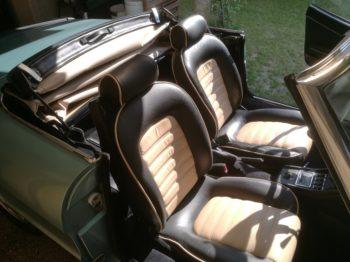 Remplacement capote Alpaga Bleue et beige sur Alfa Spider 2000  RC Sellerie