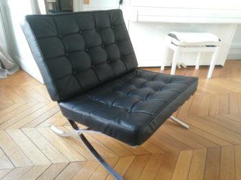 Réalisation d'un siège en cuir capitonné Knoll par RC Sellerie RC Sellerie