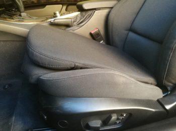 BMW E93 adaptations morphologiques du siège conducteur pour un meilleur maintien et suppression des sciatiques RC Sellerie