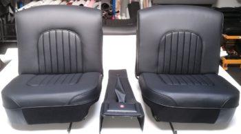 Rénovation des sièges et de la console centrale en cuir jaguar MK2 RC Sellerie