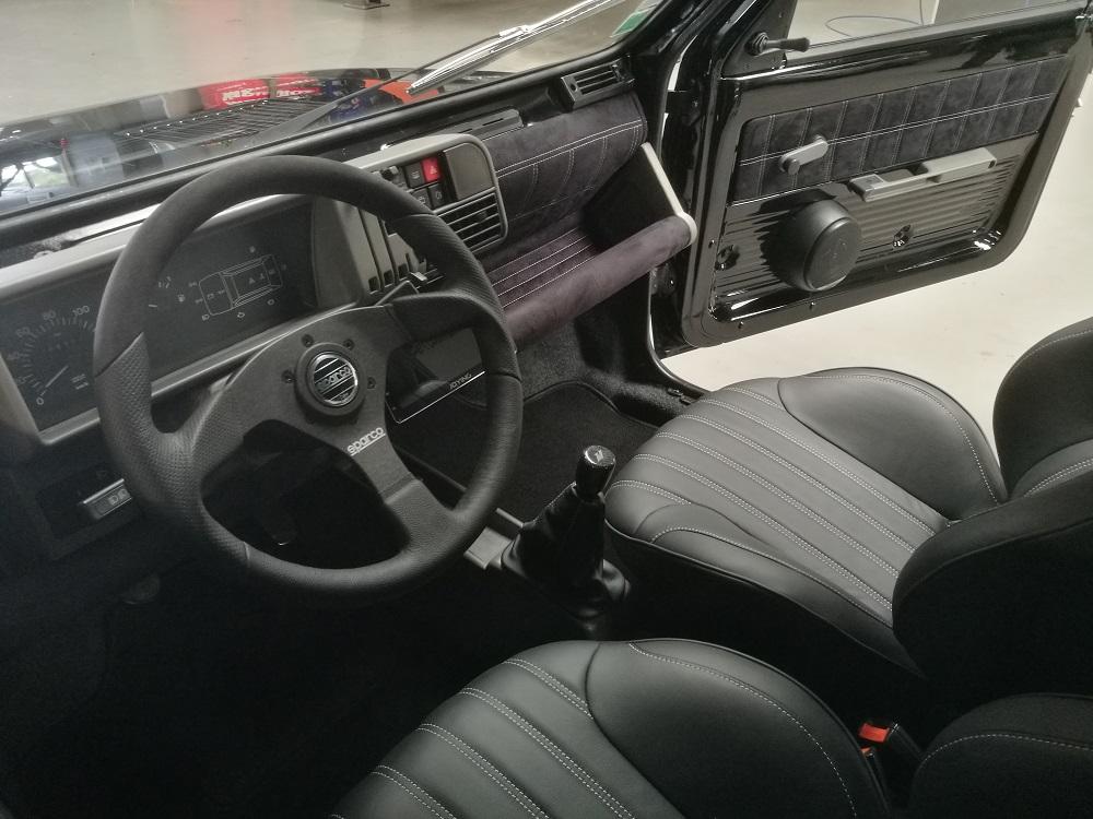 Planche de bord Fiat Panda gainée en alcantara