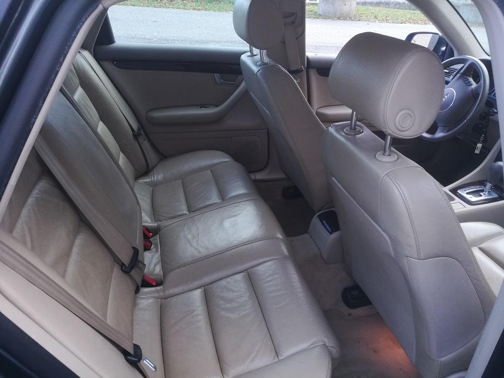 Audi A4 : Nettoyage du cuir et hydratation par RC Sellerie