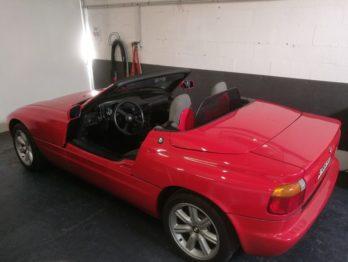 Pose d'un filet coupe vent d'un BMW Z1 par RC Sellerie RC Sellerie